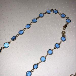 """Jewelry - Swarovski Crystal Blue 18"""" Necklace"""